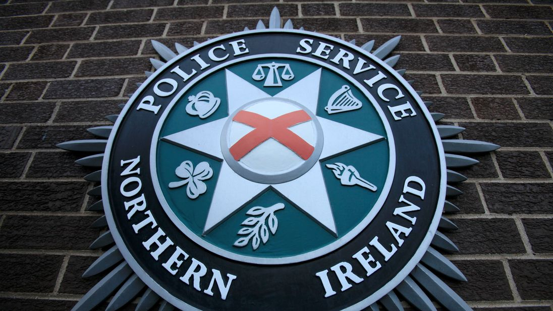 A coat of arms at the Police Service of Northern Ireland HQ in Belfast