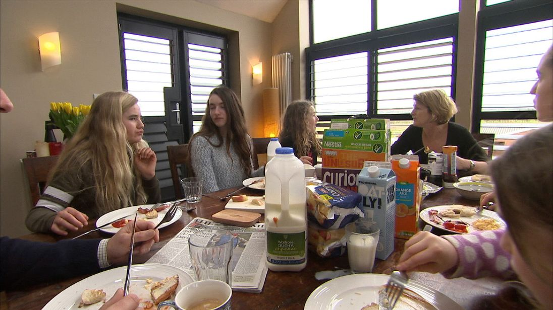 Sky presenter Colin Brazier and his family of six children reflect on the plastic they use in one week