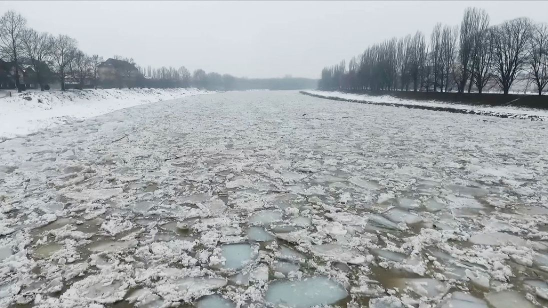 Ice floes in Ukraine