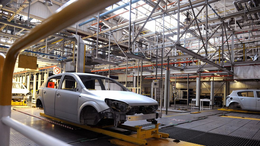 Astra cars are assembled at the General Motors' owned Vauxhall plant in Ellesmere Port, Cheshire, north-west England