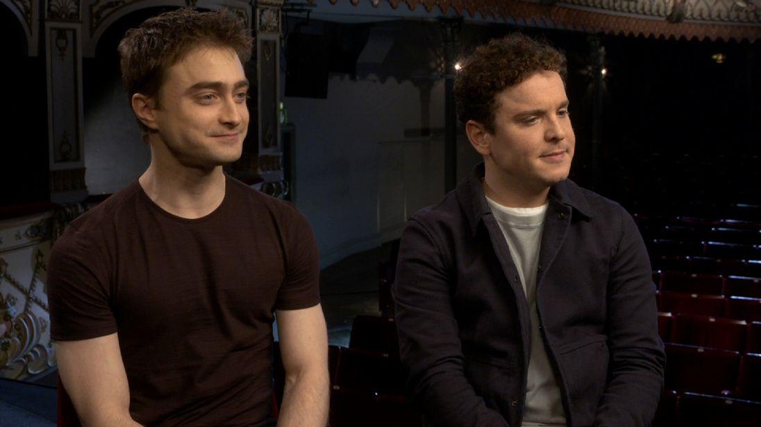 Daniel Radcliffe (L) and Joshua McGuire