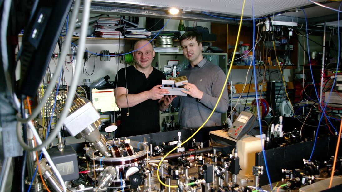 Professor Winfried Hensinger (left) and Lead author Dr Bjoern Lekitsch (right)