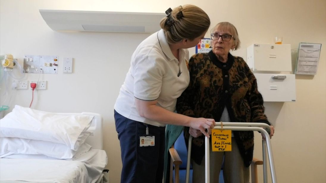 Following a fall, fiercely independent Joan, 95, was forced to go into hospital