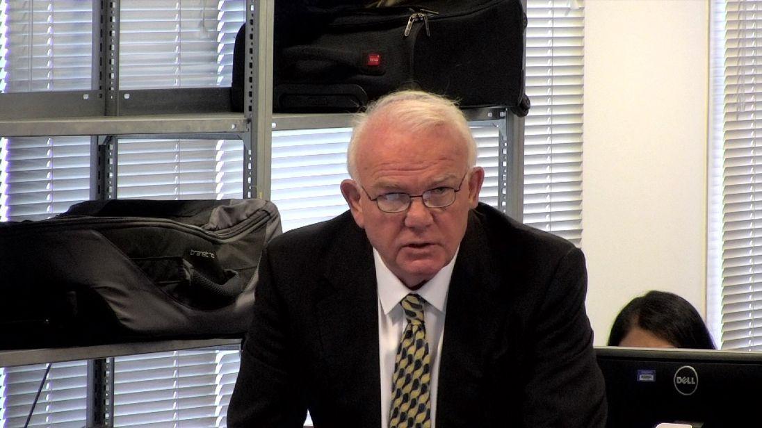 Child migrant David Hill broke down when he spoke to the inquiry