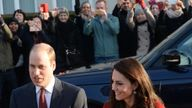 The Duke and Duchess of Cambridge arrive at Mitchell Brook Primary School