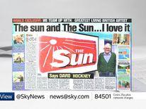 The Sun Hockney masthead