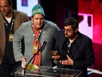 Louis Theroux collected the Best Film award for his My Scientology documentary