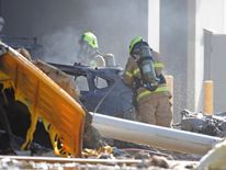 Emergency services personnel at the scene