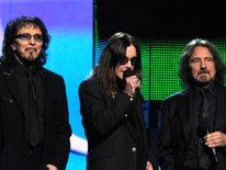 The Black Sabbath line-up (L-R) - Tony Iommi, Ozzy Osbourne and Geezer Butler