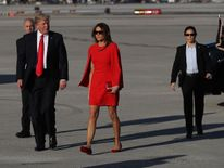Donald Trump and Melania ahead of their visit to the President's Mar-a-Lago Resort