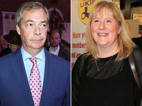 Nigel Farage and his wife Kirsten