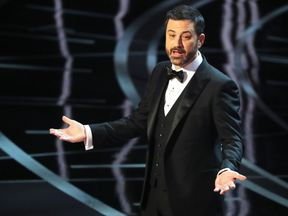 Oscars host Jimmy Kimmel takes a dig at the President