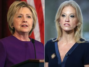 Hillary Clinton and Kellyanne Conway