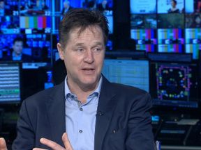 Nick Clegg speaks to Sky News