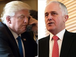 Donald Trump and Malcolm Turnbull