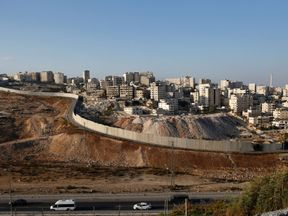 The wall dividing Israel and Palestinian territories