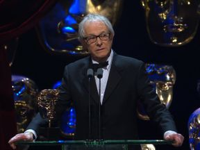 Ken Loach attacks the Government in his BAFTA acceptance speech for his film, 'I, Daniel Blake'. Pic: BAFTA / BBC