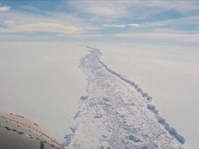 The ice crack has formed in the Larsen C Ice Shelf