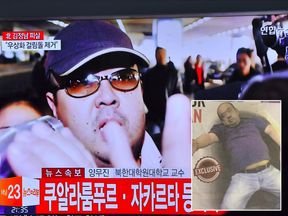 Inset: The last purported image of Kim Jong-Nam alive, as printed by the New Straits Times