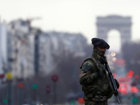 Troops and police are on high alert in Paris