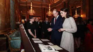 The Duke and Duchess of Cambridge during a reception to mark the launch of the UK-India Year of Culture 2017 at Buckingham Palace, London.