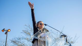 Hollywood actress Jodie Foster addresses a 1,200-strong crowd