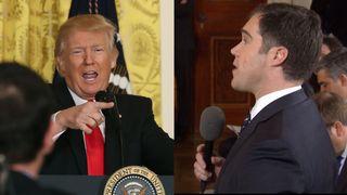 Donald Trump and NBC reporter Peter Alexander