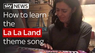 Sky's Katie Spencer learns to play the La La Land theme song