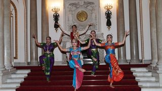 Dancers perform during a reception to mark the launch of the UK-India Year of Culture 2017 at Buckingham Palace, London.