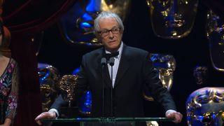 Ken Loach attacks the Government in his BAFTA acceptance speech for his film, 'I, Daniel Blake'. Pic: BAFTA / BBC
