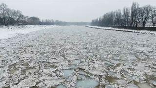 Ice floes in Ukraine
