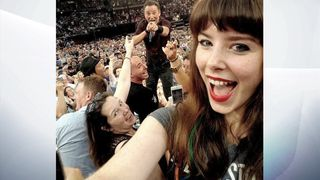 Bruce Springsteen fan Jessica Bloom got this selfie with The Boss when he performed in Sydney, Australia