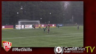 Cardiff Met score direct from a corner, helped by strong winds