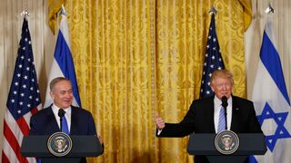 US President Donald Trump and Israeli Prime Minister Benjamin Netanyahu at the White House