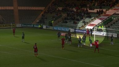 Orient captain pushes ball boy