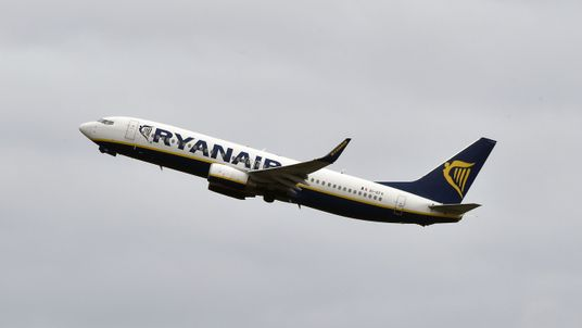 One of Ryanair's Boeing 737-800s takes off