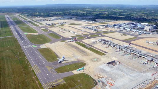 Gatwick Airport in Sussex.