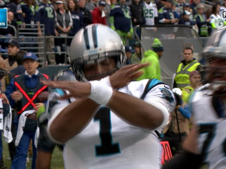 American football star Cam Newton shows how it's done