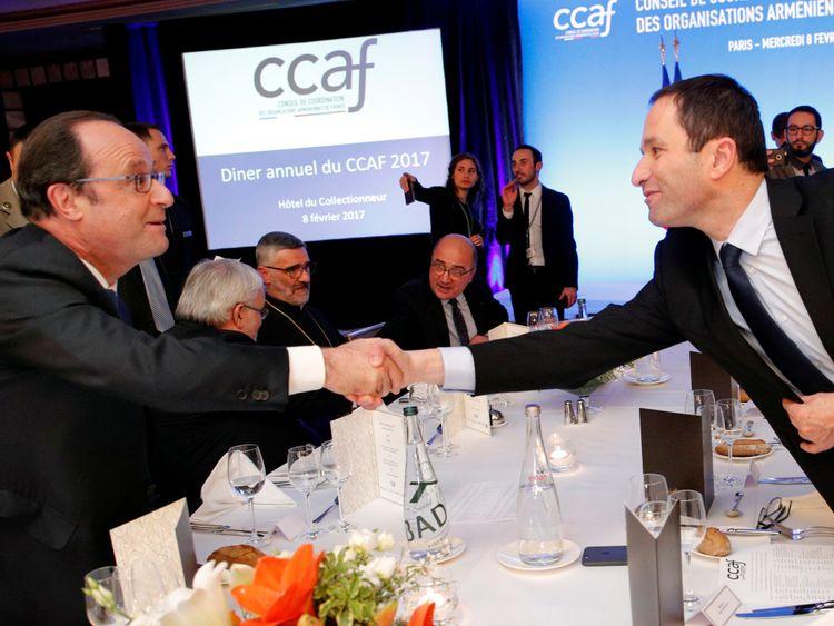 Best of frenemies? Francoise Hollande and Benoit Hamon split over the former's policies