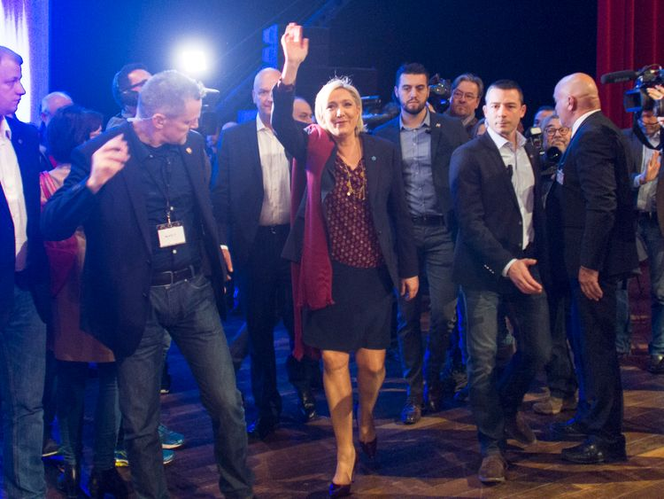 Marine Le Pen unveiled a range of policies, including a referendum on EU membership