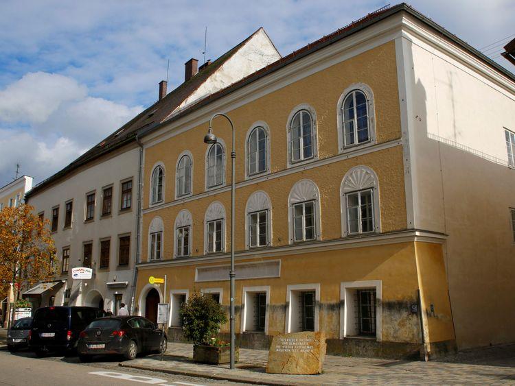 The house in which Adolf Hitler was born in Braunau am Inn, Austria