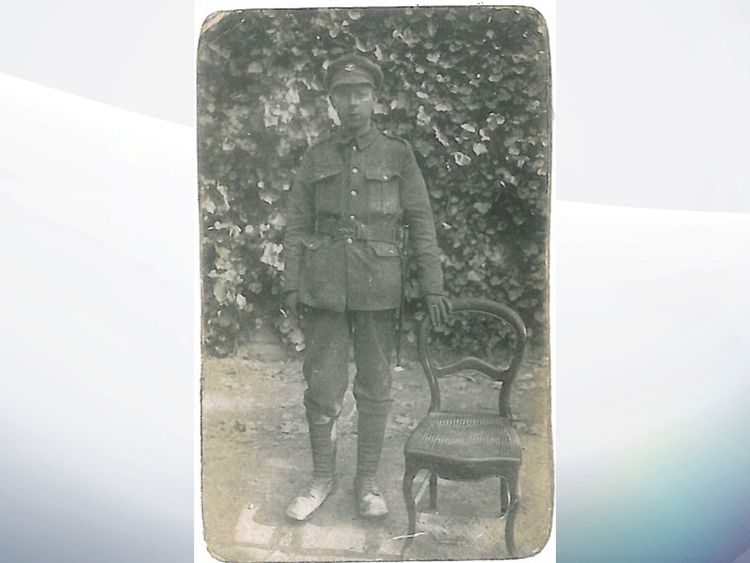 Edward Woolley, picture found ahead of the big international centenary commemorations of the Battle of Passchendaele taking place this July in Belgium