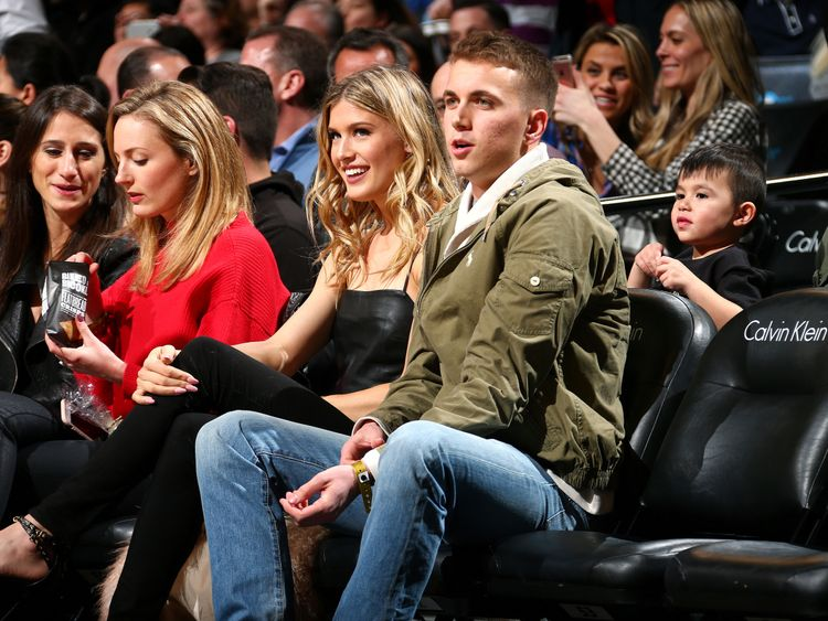 Eugenie Bouchard and John Goehrke had courtside seats