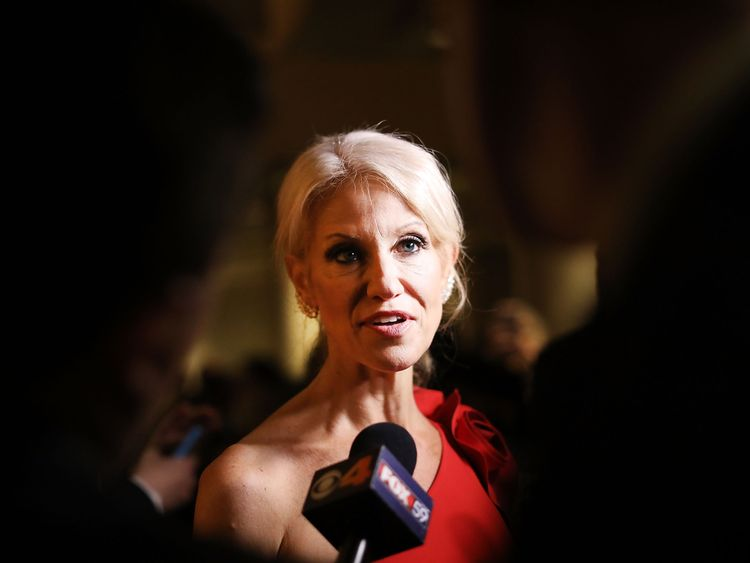 Kellyanne Conway, senior adviser to President-elect Donald Trump, attends the Indiana Society Ball in honor of Vice President-elect Mike Pence on January 19, 2017 in Washington, DC. Washington and the entire nation is preparing for the transfer of the United States presidency tomorrow as Trump is sworn in as the 45th president