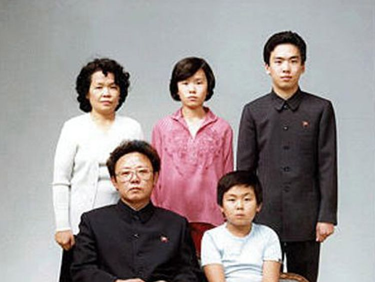 Kim Jong-Nam pictured with his father, former North Korean leader Kim Jong-il, in 1981