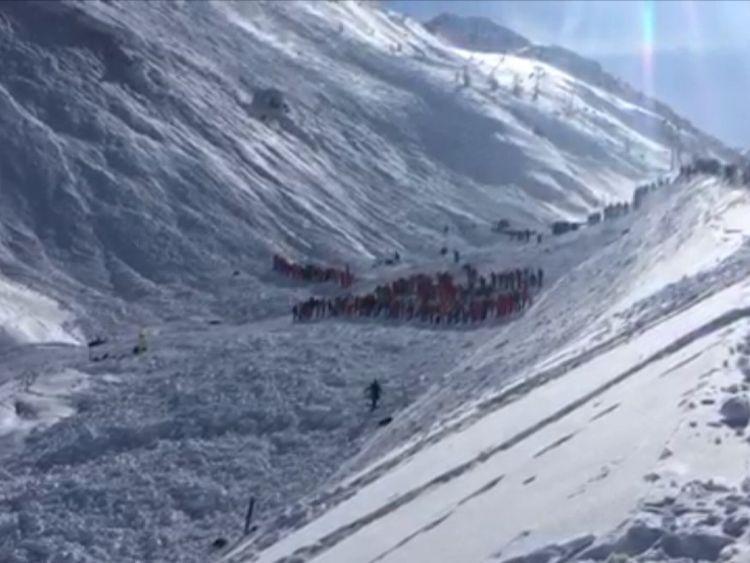 Avalanche, Tignes ski resort, France