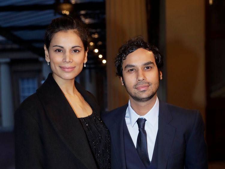 LONDON, ENGLAND - FEBRUARY 27: British Indian actor Kunal Nayyar and his wife Indian model Neha Kapur attend a reception this evening to mark the launch of the UK-India Year of Culture 2017 on February 27, 2017 in London, England. The reception will bring together the best of British and Indian culture and creativity, represented through a range of high profile guests with an interest in both countries