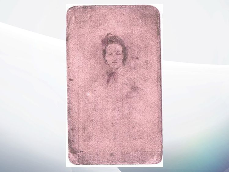 A photo of Alice Snelling found on the battlefield ahead of the big international centenary commemorations of the Battle of Passchendaele taking place this July in Belgium
