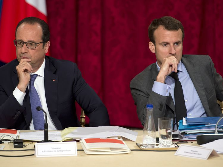 Hollande and Macron