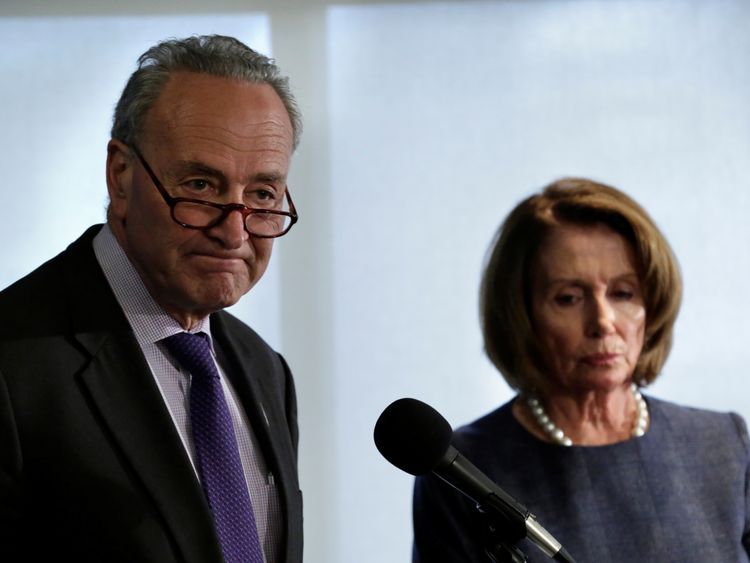 Senior Democrats Chuck Schumer (L) and Nancy Pelosi (R) say the plans will hurt ordinary Americans